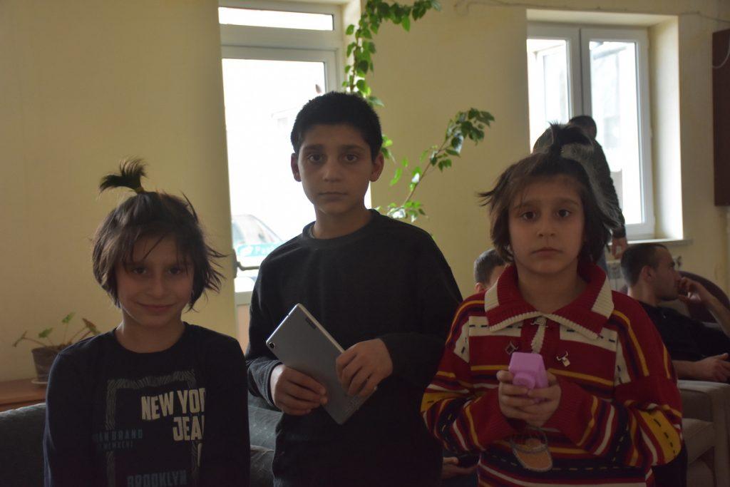 Karine Melkonyan has three minor children, twin girls: Larisa and Araks, and eleven-year-old Gevorg. Photo by Alexander Martirosyan