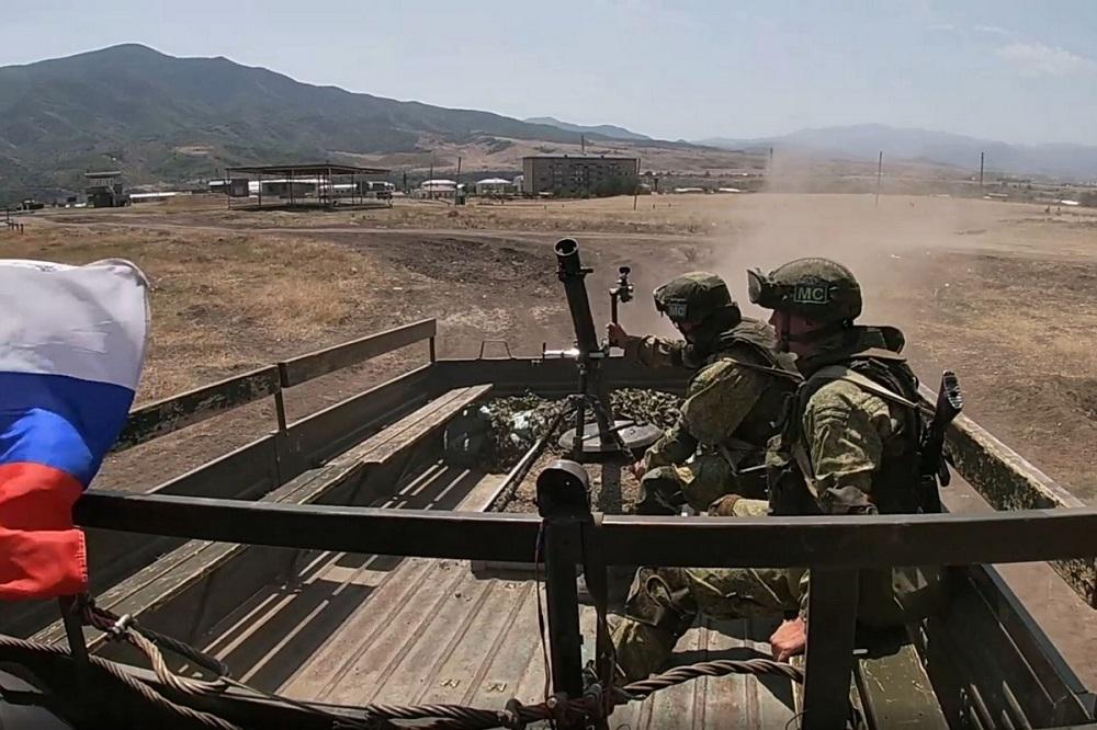 Russian peacekeepers in Karabakh