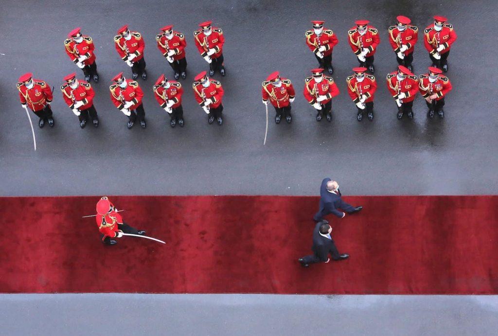 Հայաստանի վարչապետ Նիկոլ Փաշինյանի հանդիսավոր դիմավորումը Թբիլիսիում 2021 թ-ի սեպտեմբերի 8-ին։ Լուսանկարը՝ Վրաստանի կառավարության