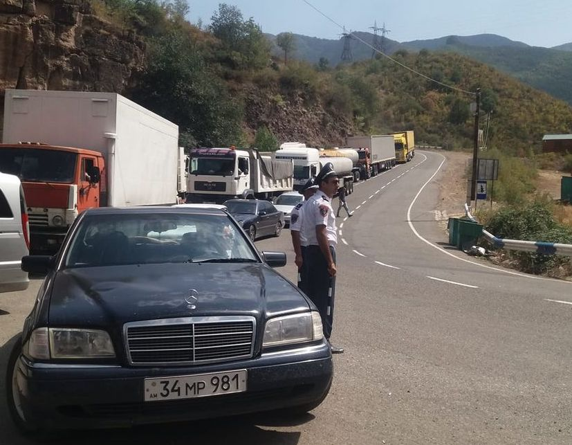 Azerbaijani Armed Forces blocked the road