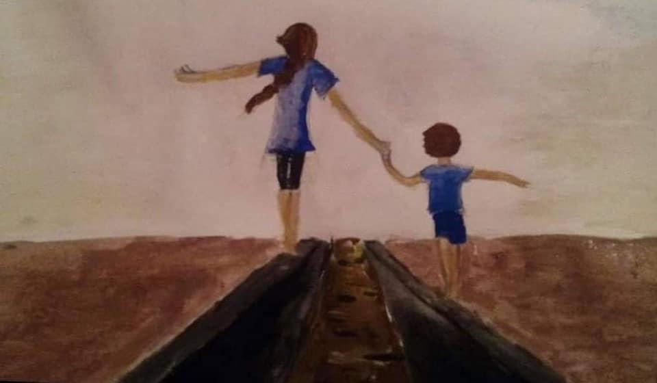 Одна из последних рисунков  Датуны Чомахия