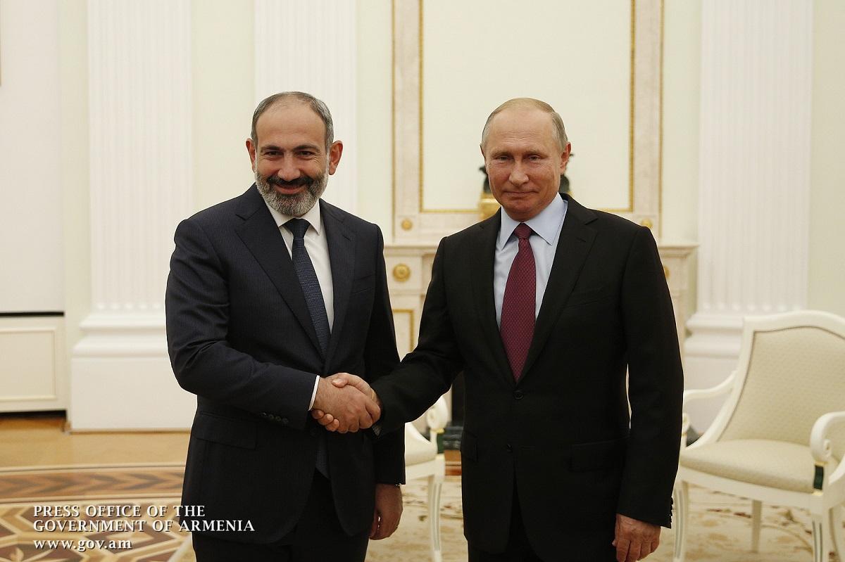 встреча Путина и Пашиняна в Москве