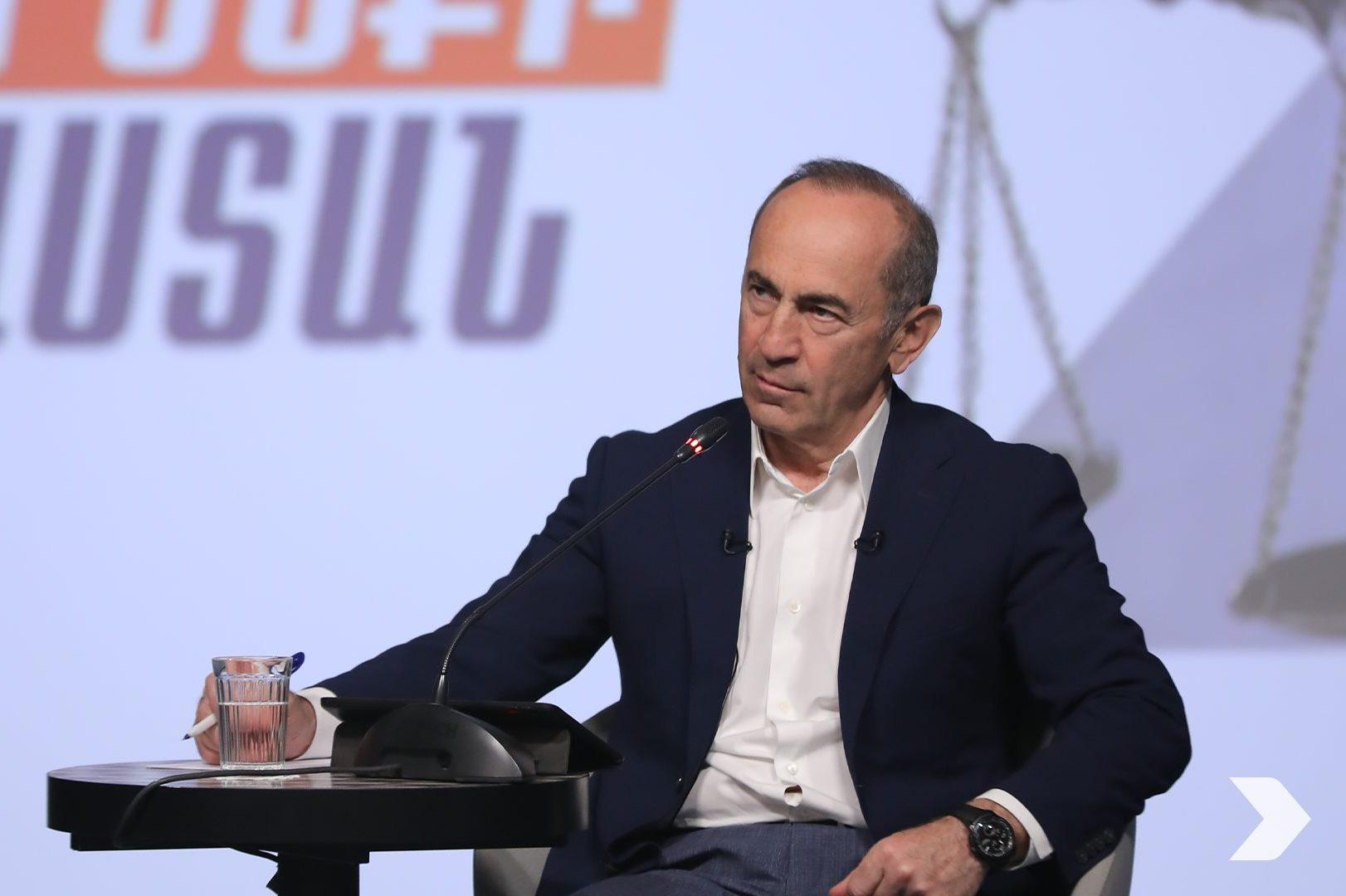 press conference of ex-President Robert Kocharian